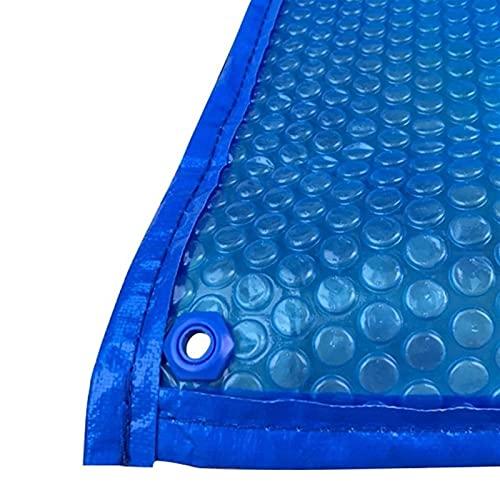 GKKXUE Tarpa de Burbujas de Suelo por Encima del rectángulo con ujenedas, Cubiertas de Piscina Solar, Mantas de Almacenamiento de Calor a Prueba de Lluvia (Color : A, Size : 3m x 4m(10ftx13ft))