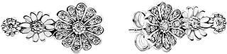 Pandora 298876C01 - Pendientes de plata con forma de margarita, 1,6 cm