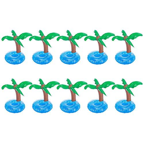 Cosiki Estera de Taza Flotante, 10 Piezas Completamente inflado en 10 Segundos Posavasos Inflable para Taza, para Fiesta en la Piscina, Playa