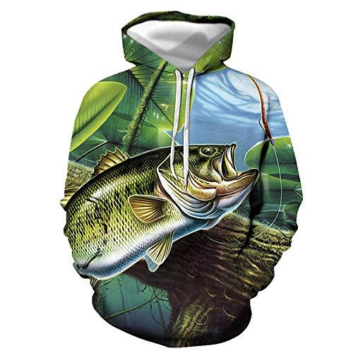 Haokaic Felpe con Cappuccio Divertenti Pesci Tropicali 3D per Pescatore Pescatore Uomo Donna Felpe con Cappuccio Manica Lunga con Cappuccio Streetwear Giacche Hip-Hop(WY-1,XXL)