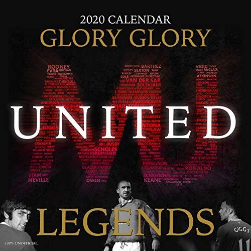 Man United Legends 2020 Wandkalender, quadratisch, 30,5 x 30,5 cm, inkl. Poster