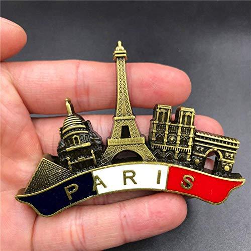 Fingertoys Notre Dame De Paris Fridge Magnetic Stickers Creative 3D Refrigerator Magnet Sticker Home Decoration Travel Souvenir Gift(H02)