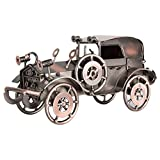 VORCOOL - Modelo de coche de hierro vintage hecho a mano con diseño clásico de vehículos Retro Artesanía coleccionable de hierro para decoración de oficina en casa o escritorio (bronce)