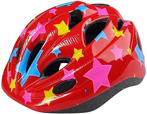 cjb Kinderhelm Outdoor Sports Helm met veiligheidsverlichting instelbare 3-8 jaar oud kinderen meisjes fietsen skateboard scateboard scooter skiën snowboard helm rood