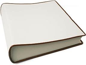 LEATHERKIND Cortona Leather Photo Album, Medium White - Handmade in Italy
