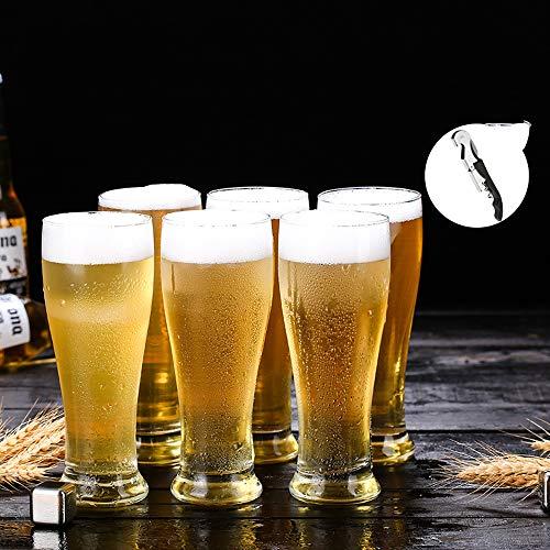 Tanktoyd Copa de Vino con sacacorchos de 16 onzas   Diseño clásico cristalino sin Plomo vinos tintos y Blancos en Elegant Dinner Party   Diseño de Cuenco Alargado   Juego de 6