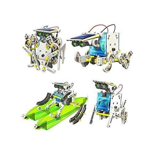 RCTecnic Kit de Robótica Solar Para Niños,13 Robots en 1,