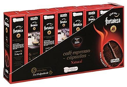Cápsulas Caffitaly Fortaleza Café Natural 100% Arabica - 80 cápsulas
