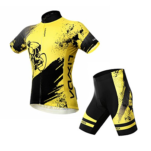 Lixada Homme Ensemble de Cycliste Maillot Velo à...