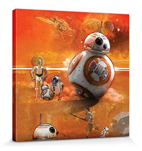 1art1 Star Wars - BB-8 Art Bilder Leinwand-Bild Auf Keilrahmen | XXL-Wandbild Poster Kunstdruck Als Leinwandbild 30 x 30 cm