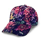 Baseball Cap Colour Vintage Floral Pattern Print Dad Caps Classic Fashion Casual Adjustable Sport for Women Hats