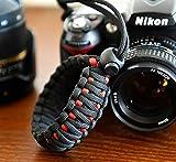 RUBRIC® Braided King Cobra Paracord Hand Grip Wrist Strap for All DSLR Camera/Binoculars (Black and Oange) underwater camera wi fi Mar, 2021