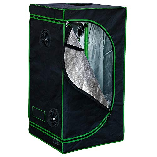 Melko Growbox 100x100x200 cm Growschrank Growzelt Zuchtzelte Zuchtschrank für Homegrowing Pflanzenzucht Ganzjährige Pflanze, Lichtdicht und Wasserdicht