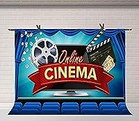 HD映画館の背景7x5ft映画館の写真撮影の背景スタジオフォトコールの小道具LYFU748