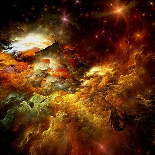 daoyiqi Juego de adhesivos decorativos para azulejos, diseño de galaxia atmosférica, espacio exterior, cielo, universo espacial, 10 x 10 cm, vinilo para decoración del hogar