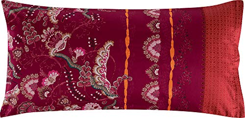 Bassetti Kissenhülle Civita R1 Rot 40 x 80 cm, bunt, 40x80