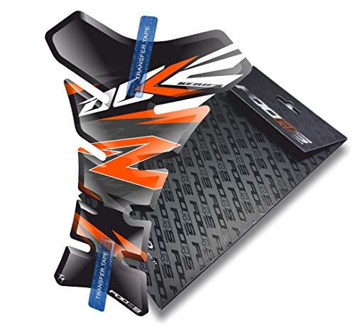 Tankpad pour KTM Duke 125 250 690 790 1029 (Noir/Orange)