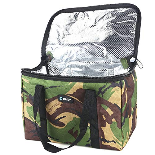 Cult Tackle DPM Compact Coolbag Kühltasche Angeln - Boilietasche für Karpfenangler - Lunchbag für Angler 17 l Fassungsvermögen