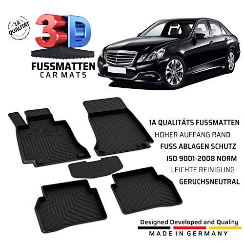 Auto Gummi Fußmatten Passend für Mercedes Benz E Klasse (W212/S212) Baujahr 2009-2016