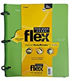 Five Star Flex Hybrid NoteBinder, 1 Inch Binder, Notebook and Binder All-in-One, Color Selected For You, 1 Count (29104)