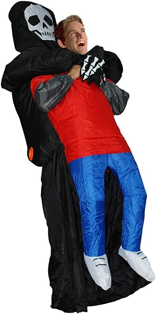 MoreToys Don't miss the campaign Inflatable Reaper Halloween Blow Up Fancy Superlatite Costume Dress