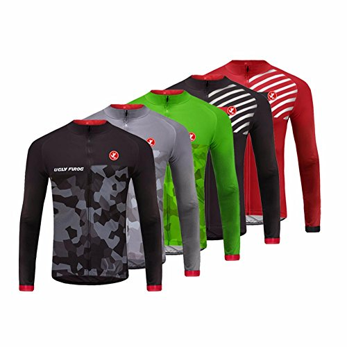 Uglyfrog MA04 Neue Winter Jersey Thermisches Fahrradtrikot Vlies Thermo Langarm Shirt Herren Breathable Radfahren Fahrrad Lange Hülsen Fahrrad Hemd Männer Langarm Fahrradbekleidung