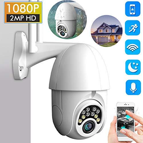 Weihuimei - Cámara de vigilancia inalámbrica IP para Exteriores (Alta Velocidad, Zoom cuádruple y vigilancia por Red por Infrarrojos)