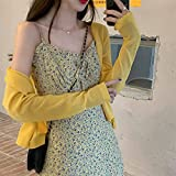 YUNCHENG French Floral Sling Vestido de Mujer Primavera otoño 2021 Retro Suave súper Hada Falda Larga (Color : Suspender Skirt, Size : One Size)