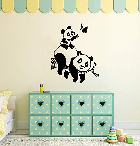 Hwhz 42 X 53 Cm Calcomanías De Vinilo De Oso Panda Animales Etiqueta De Vinilo Decoración De La Sala De Bebés Y Niños