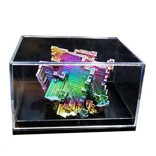 Spécimens de Cristal de Bismuth, Avec Emballage en Treillis Bijoux en Cristal Naturel Objets de Collection Minérale Oeuvres d'art Exquises