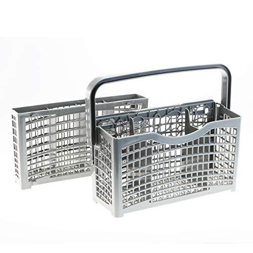 2 in 1 universal Besteckkorb geeignet für ALLE Spülmaschinen Geschirrspüler | teilbar | Maße: [23,0 x 8,3/4,5 x 21,2cm] | aus hitzebeständigem Kunststoff von CleanMonster