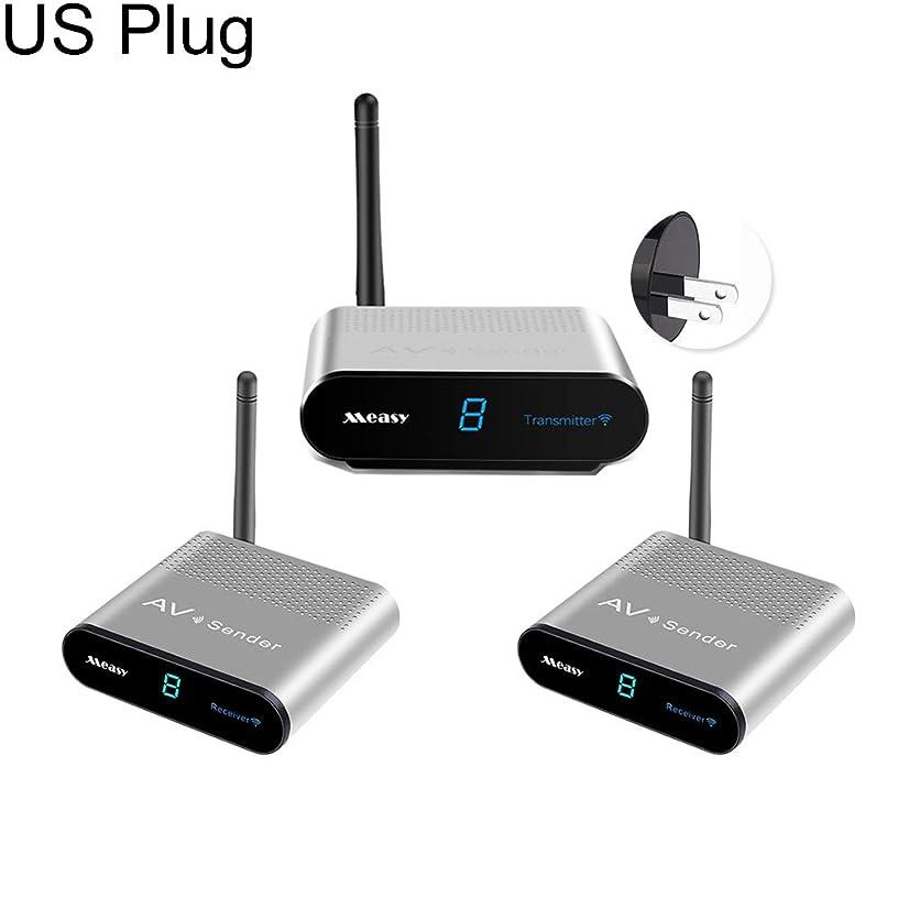Gyswshh Measy AV530-2 5.8GHz Wireless AV Signal Sender Video Audio Receiver Transmitter SiverUS Plug