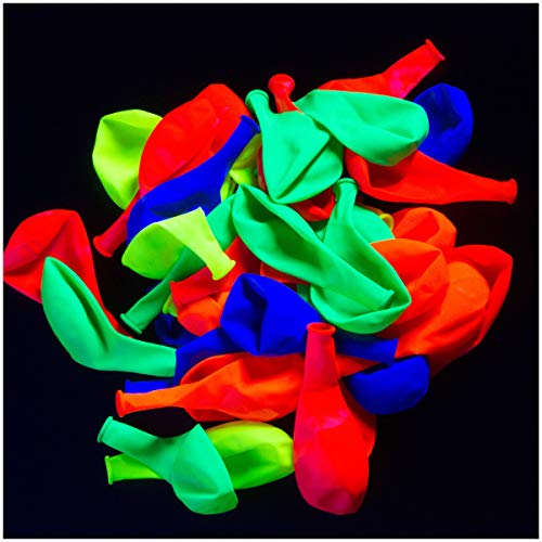 Cheapest Price! Glow King UV Blacklight Reactive Fluorescent / Neon Glow Party Balloons (50)