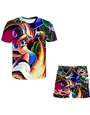 EA-SDN Super Mario kinderset shorts en T-shirt zomer polyester T-shirt short set 3D cartoons jongens T-shirt set