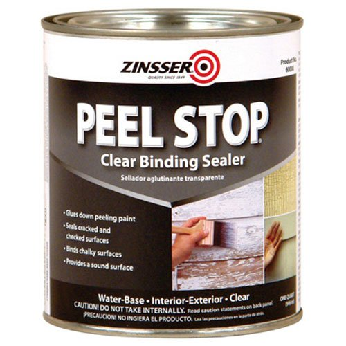 Zinsser Peel Stop Clear Binding Sealer Water Based Exterior, Interior Clear 1 Qt -  60004