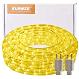 50ft Warm LED Rope Lights Outdoor,Waterproof, Strip Lighting, 110V, Cuttable, Connectable for Deck Patio, Indoor Outside Use Decorative Location Garden Stairs Balcony Party