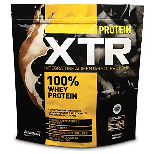 EthicSport - Proteine XTR - Busta da 500 g - Gusto: Vaniglia - Integra