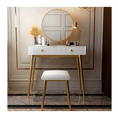 RKRXDH Vanity Dormitorio Dormitorio Conjunto con Silla para el Dormitorio para el hogar Dormitorio Maquillaje Tocador (Color : White, Size : Length 120cm)
