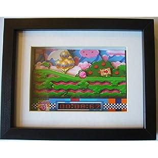 Kirby Super Star SNES 3D Diorama Shadow Box Art