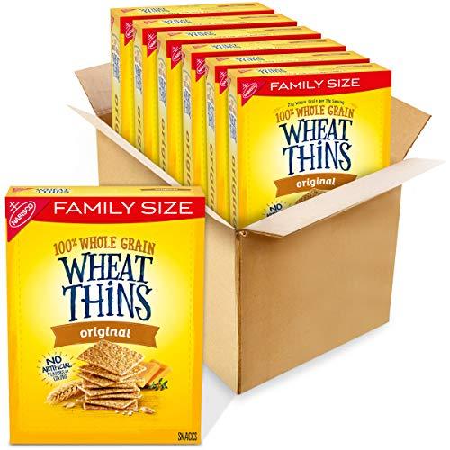 Wheat Thins Whole Grain Crackers 14 Oz Family Size Boxes, Original, 6 Count -  AmazonUs/MOQ4F