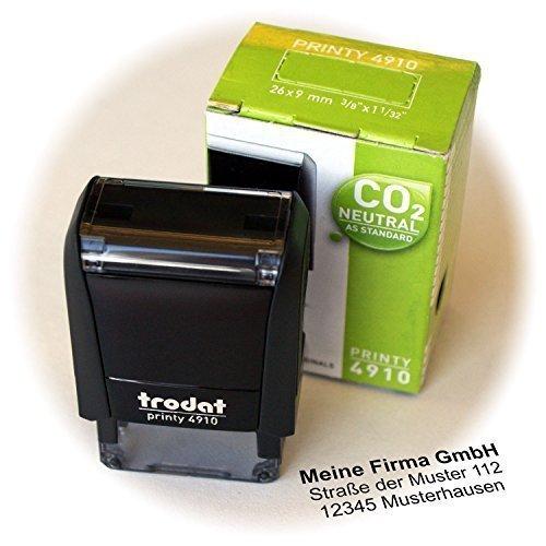 Printy 4910 inkl. Stempelplatte mit Ihrem Wunschtext