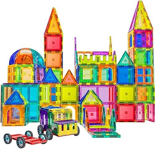 120 PCS 3D Magnetic Blocks Magnetic Tiles - Magnet Building Tiles | Magnetic Tiles Toy Building Sets | Magnetic Building Blocks | Kids Magnet Toys For Kids | Magnetic Tiles For Kids | Magna t Blocks
