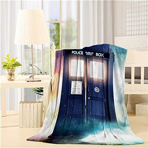 Soode Custom Doctor Who Tardis The DoctorFlanell Decke Leichte, kuschelige Schlafsofadecken SuperweicherStoff, wieabgebildet, 150 W x 200 L cm