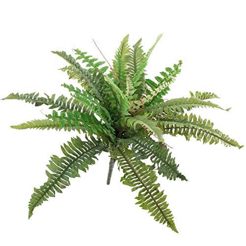 artplants.de Künstlicher Schwert Farn Samuel, 26 Blätter, grün, Ø 50cm, 40cm - Kunststoff Farn - Deko Farn