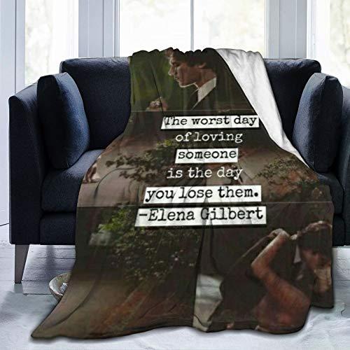 wteqofy Damon Salvatore Fleece Blanket Cozy Thermal Fleece Blanket Non Shedding Premium Flannel Fleece Throw Blanket Luxury Couch Throw Blanket for Bed Couch Car