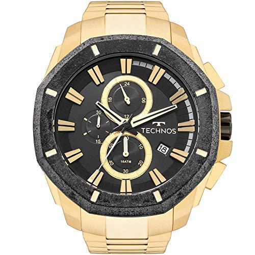 Relógio Technos Masculino Ts Carbon Dourado - JS16AB/4P