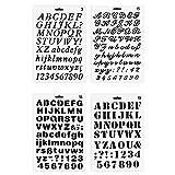 Yxhome 4 plantillas de pintura de letras y números,...