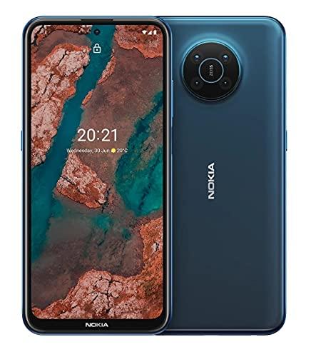"Nokia X20 - Smartphone 5G Dual Sim, Display 6.67"" FHD+, 128GB, 8GB RAM, Quad Camera ottiche ZEISS, Android 11, Batteria 4470mAh, Nordic Blue [Italia]"