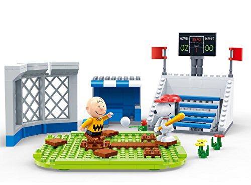 BanBao 7529 Snoopy Baseball Stadion, Mehrfarbig