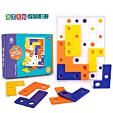 Puzzle Toy Shape Puzzle Brain Teaser STEM Toys for 5 6 7 8 Year Old Boy Girl Tangram Jigsaw Montessori Materials Thinking Logic Mind Puzzle Learning Toy Educational Board Game for Kids Travel Activity
